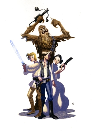 The Gang Original Star Wars Artwork by Nathan Stapley