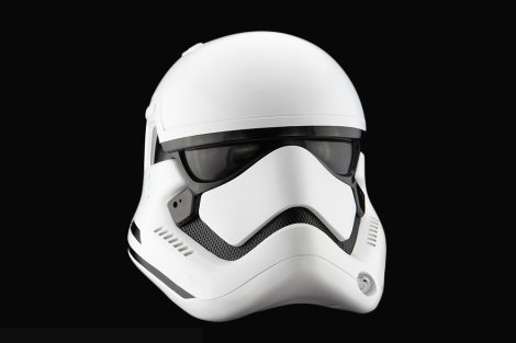 The Replica Helmet First Order Stormtrooper from Star Wars The Force Awakens