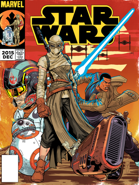 Vintage Star Wars The Force Awakens Comic Cover Issue 1 by daztibbles
