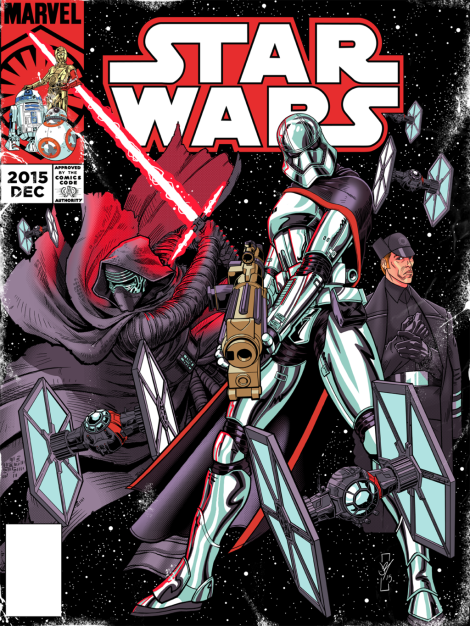 Vintage Star Wars The Force Awakens Comic Cover Issue 2 by daztibbles