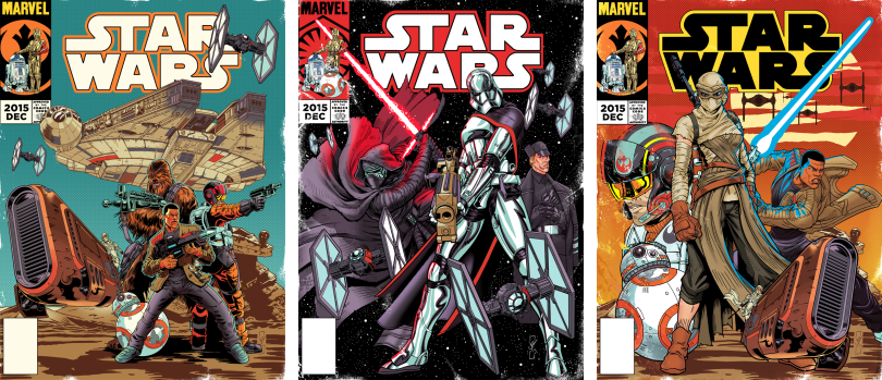 Vintage Star Wars The Force Awakens Comic Covers
