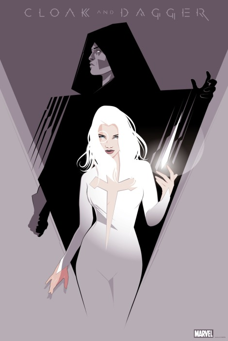 Cloak and Dagger Mondo Gallery Marvel Exhibition by Craig Drake