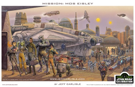 Jeff Carlisle Star Wars Rebels Celebration Poster Anaheim