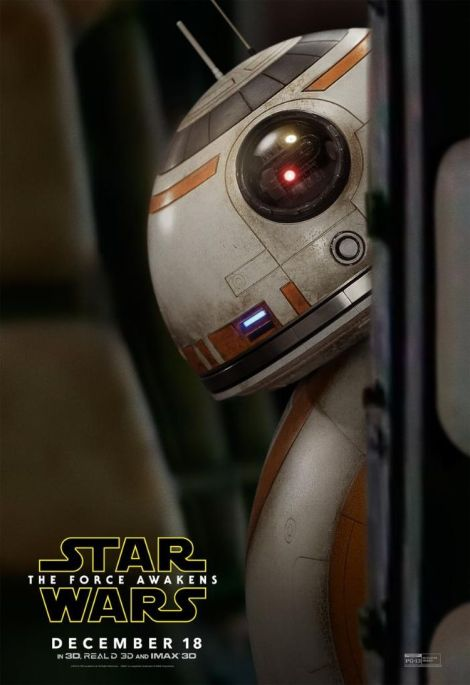 New Star Wars The Force Awakens Promotional Images _ BB-8 Poster