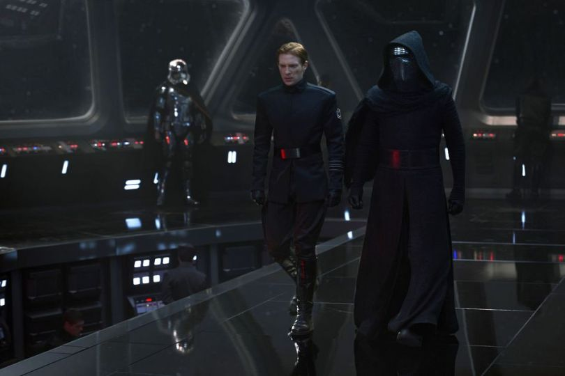 New Star Wars The Force Awakens Promotional Images _ General Hux, Kylo Ren and Captain Phasma on the bridge of The Finalizer