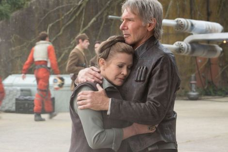 New Star Wars The Force Awakens Promotional Images _ Han Solo comforts General Leia Resistance Base