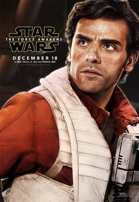 New Star Wars The Force Awakens Promotional Images _ Poe Dameron Poster