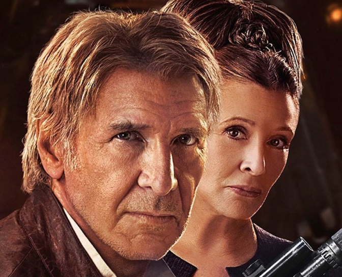 Han Solo and General Leia Character Poster
