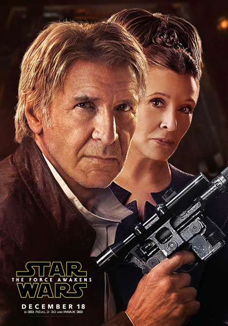 New Star Wars The Force Awakens Promotional Posters and Images _ Han Solo and General Leia