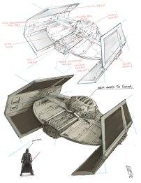 Star Wars Darth Vader Tie Fighter by Shane Molina