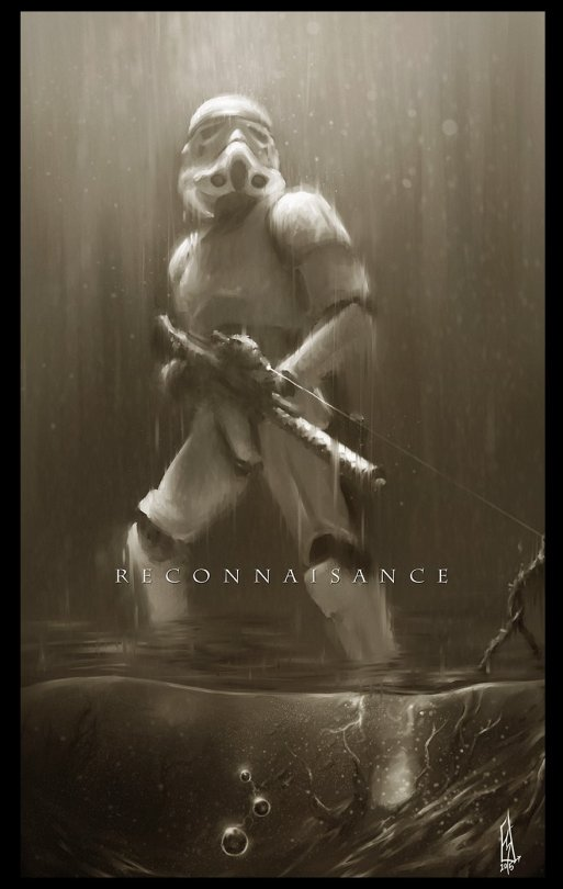Star Wars Imperial Stormtrooper Concept Sketch by Shane Molina