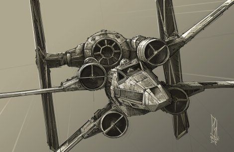 Star Wars Imperial Tie Fighter Vs T-65 Incom X-Wing by Shane Molina