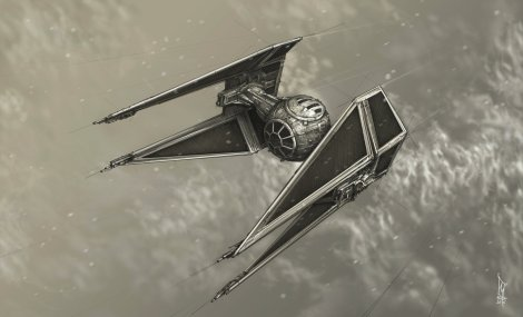 Star Wars Imperial Tie Interceptor Fighter by Shane Molina
