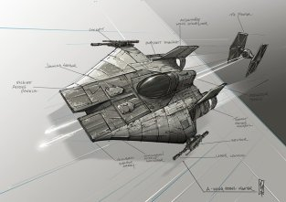 Star Wars Rebel A Wing Fighter by Shane Molina