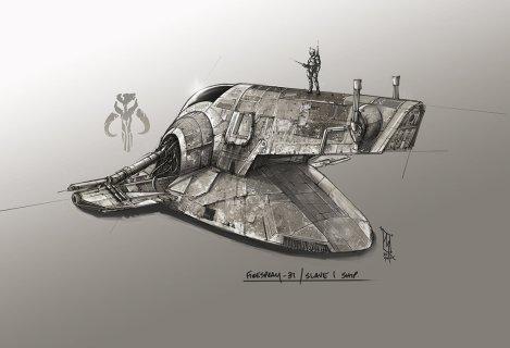 Star Wars Slave 1 by Shane Molina