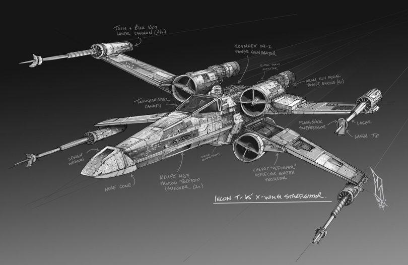 Star Wars T-65 Incom X-Wing by Shane Molina