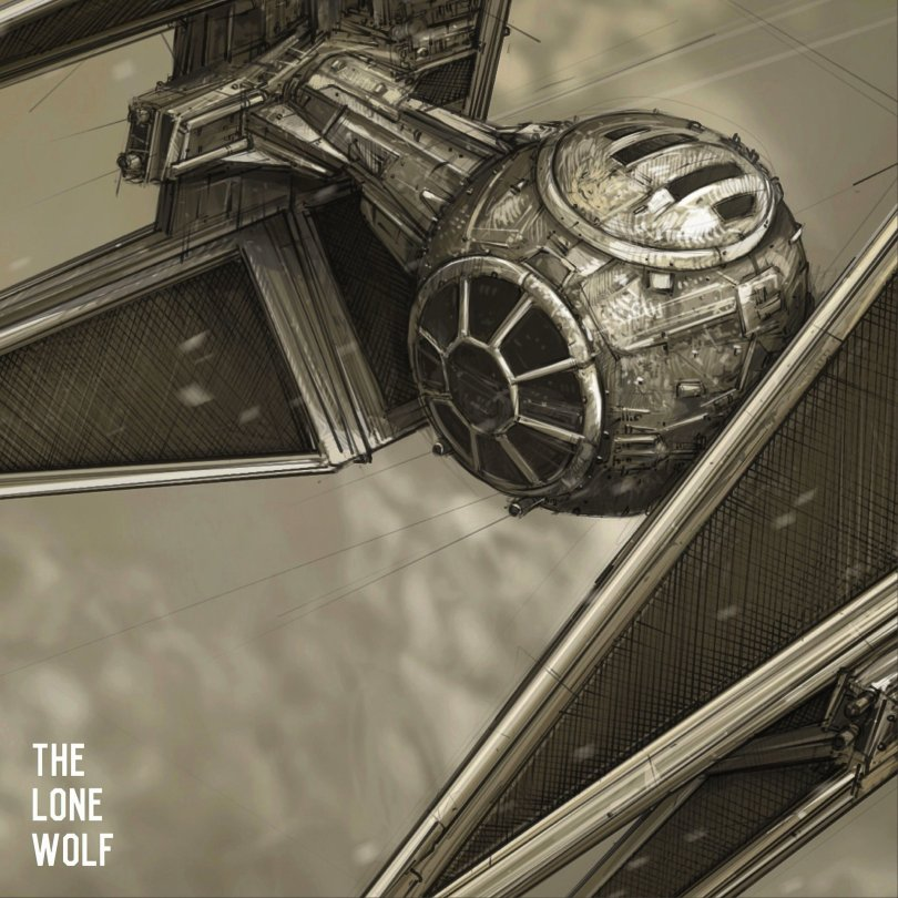 The Lone Wolf Star Wars Imperial Tie Interceptor Fighter by Shane Molina