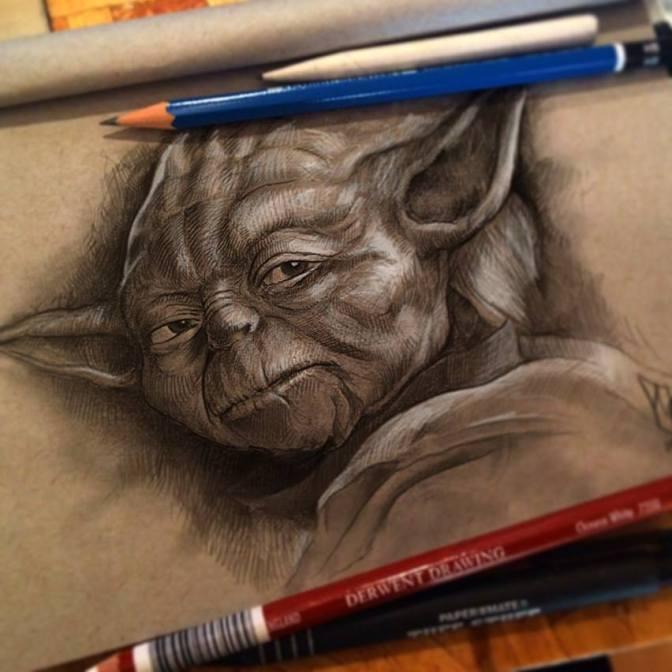 Yoda the Jedi Master Sketch by Shane Molina