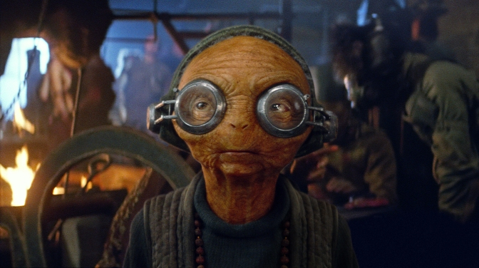 Maz Kanata and Supreme Leader Snoke Official Character Photos