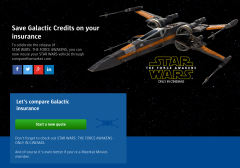 The Force Awakens Galactice Insurance for Star Wars Vehicles Compare the Market _1
