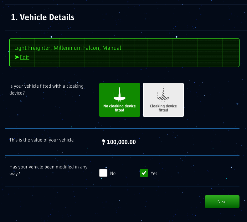 The Force Awakens Galactice Insurance for Star Wars Vehicles Compare the Market _3