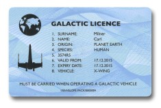 The Galactic Driving Licence Front Compare The Market