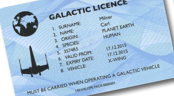 The Galactic Driving Licence