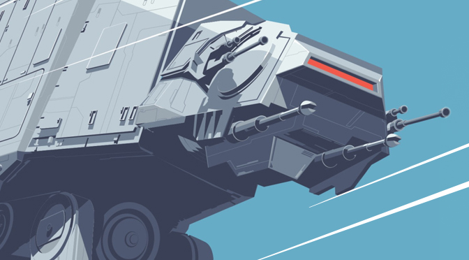 AT-AT All Terrain Amoured Transport Star Wars Mondo Print by Craig Drake MilnersBlog