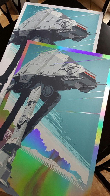 AT-AT Walker All Terrain Amoured Transport Star Wars Empire Strikes Back Hero Complex Foil Variant 02 by Craig Drake