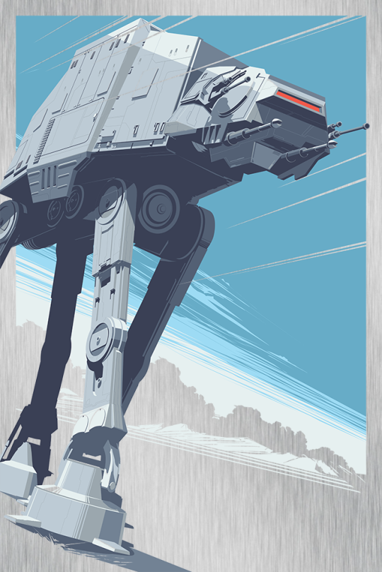 AT-AT Walker All Terrain Amoured Transport Star Wars Empire Strikes Back Hero Complex Metal Variant by Craig Drake