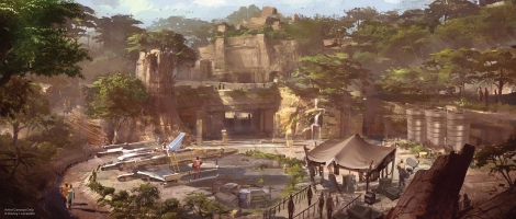 Disneyland 60 Star Wars Land New Concept Art Hi Res MilnersBlog - X-Wing Themed Area