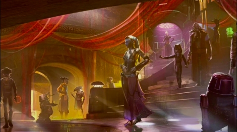 Disneyland 60 Star Wars Land New Concept Art Hi Res MilnersBlog - The Naboo Princess Experience