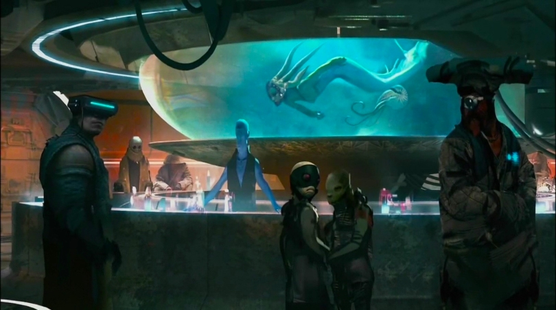 Disneyland 60 Star Wars Land New Concept Art Hi Res MilnersBlog - Cantina Restaurant