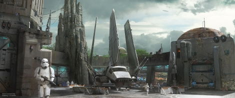 Disneyland 60 Star Wars Land New Concept Art Hi Res MilnersBlog - Empire Landing