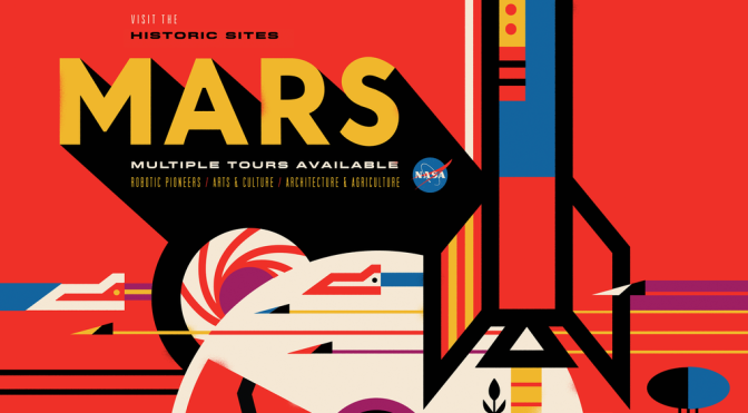 NASA Space Tourism Poster Mars by Invisible Creature MilnersBlog