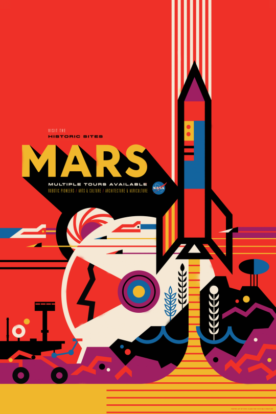 NASA Space Tourism Poster Mars by Invisible Creature