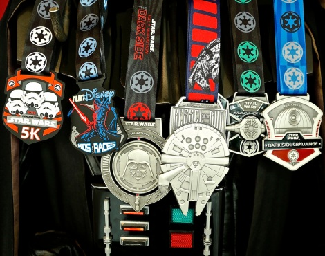 run disney star wars marathon all medals 2016