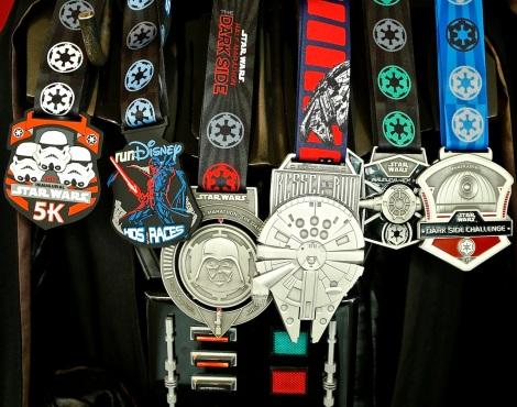 run disney star wars marathon all medals 2016