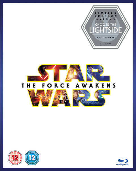 Star Wars The Force Awakens DVD Box Cover Artwork Lightside