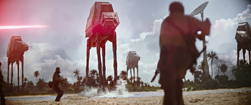 Rogue One A Star Wars Story Official Press Images AT AT Walker Assault