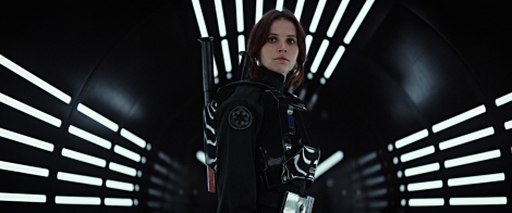 Rogue One A Star Wars Story Official Press Images Jyn Erso in Imperial Tie-Fighter Pilot Uniform Played by Felicity Jones