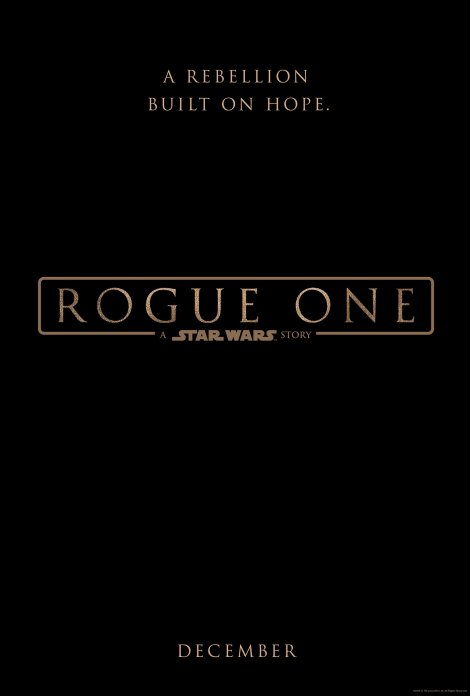 Rogue One A Star Wars Story Official Teaser Poster