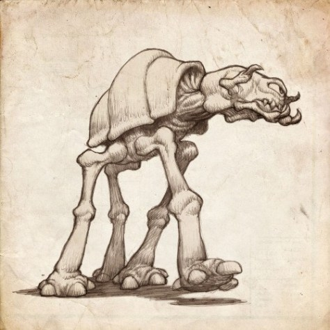 Star Wars Monster AT-AT Walker by Jake Parker