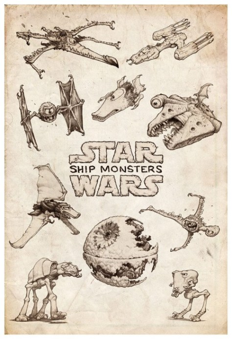 Star Wars Monster Spaceships Poster