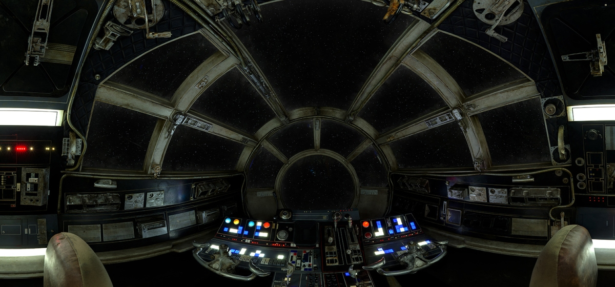 The 360 millennium falcon cockpit milners blog for Interieur faucon millenium