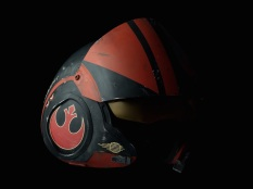 Star Wars The Force Awakens Helmet Replicas by Propshop Poe Dameron's X-Wing Pilots Helmet Hi-Res