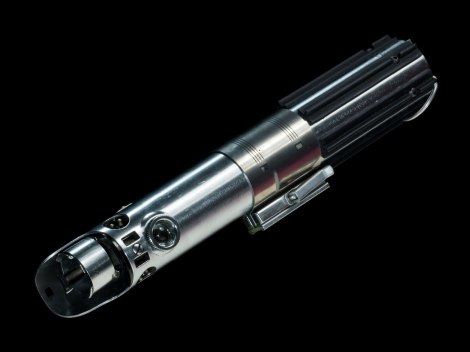 Star Wars The Force Awakens Weapon Replicas by Propshop Rey and Luke Skywalker's Lightsaber Hilt Hi-Res