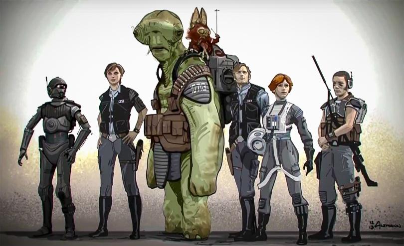 Rogue One A Star Wars Story New Character Concept Art Hi-Res HD