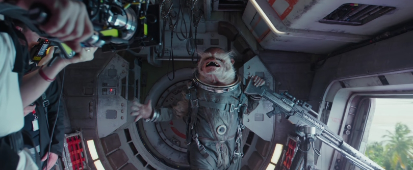 Bistan aka Space Monkey Rogue One A Star Wars Story New Characters in Hi-Res HD Production Image