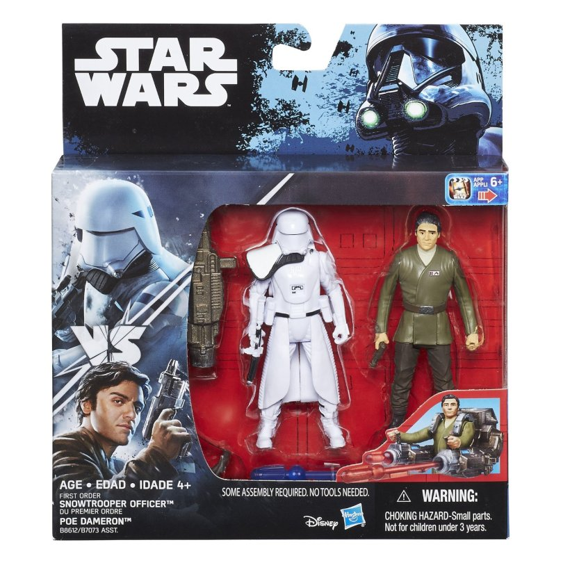 NEW Hasbro The Force Awakens Action Figure Poe Dameron and SnowTrooper Revealed Star Wars 1